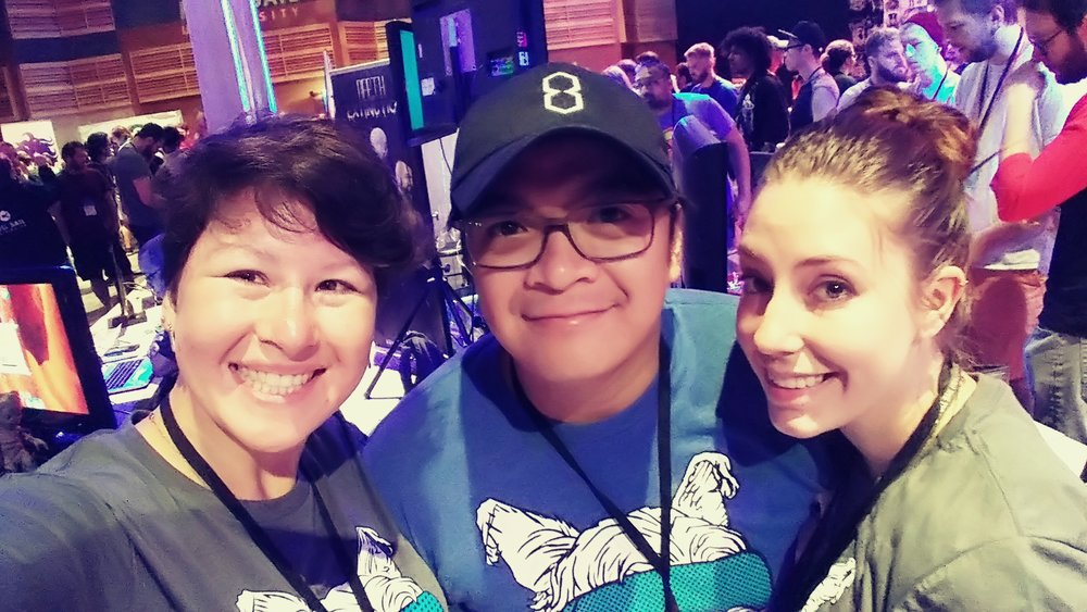 Lily Snyder, Elbert Perez, and Amanda Sweaton demoing rumii at OrlandoiX17.