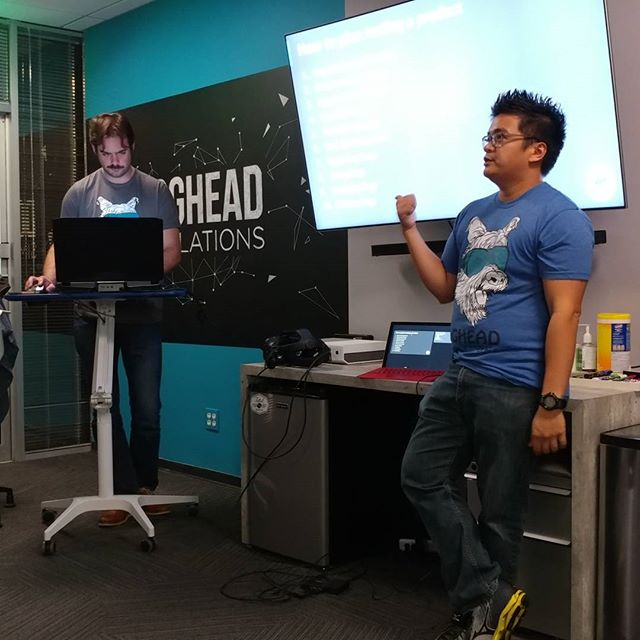 Last week students at @fullsail learned about QA. @mechabert taught how to be a good tester, using his experience working on rumii as an example.  #vrirtualreality #vr #tech #qualitycontrol #technologyrocks