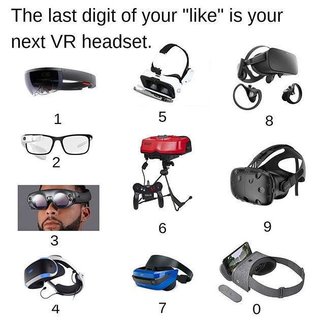 Which headset are you wearing? . . . .  #virtualreality #VR #augmentedreality #ar #mixedreality #tech #technology #acer #microsoft #hololens #google #googledaydream #googleglass #htc #htcvive #magicleap #playstationvr #oculusrift #fridayfun