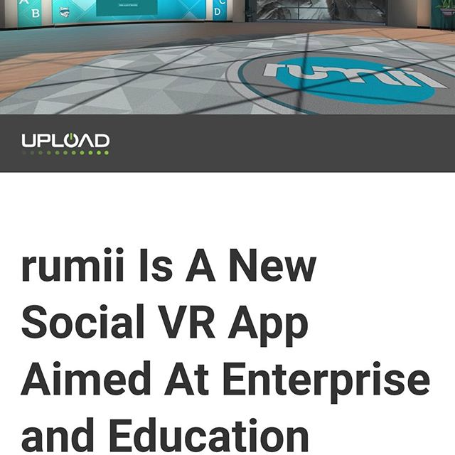 "We are featured in @uploadvr! Check out our most recent article. Link in bio. ""Doghead Simulations' rumii wants to be the VR application you boot up when you put on your headset to go to work in the morning."" . . . #virtualreality #vr #uploadvr #remotework #futureofwork #futuretech #edtech #education #socialvr #enterprise #education #tech #technology  #startup #startuplife #startupgrind #entrepreneur #entrepreneurship #entrepreneurlife #entrepreneursofinstagram"
