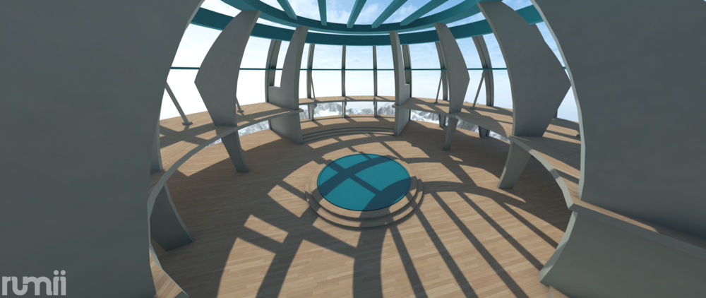 Dome Room - Want a futuristic lobby set to impress? The dome is for you!