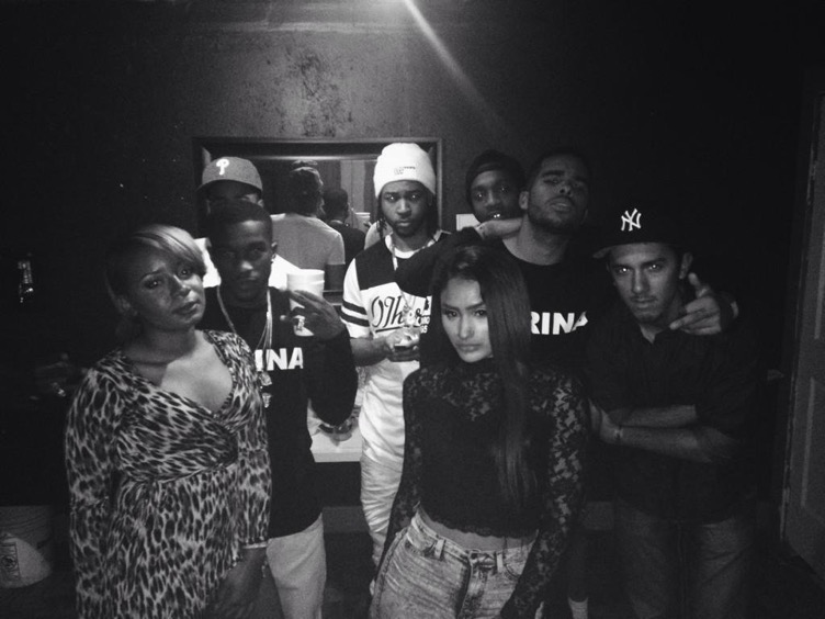 Backstage with PartyNextDoor at his Houston concert.