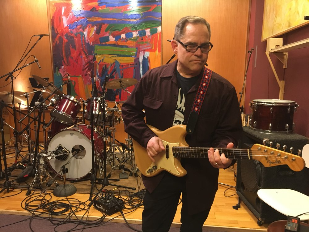 Recording April 2017. Photo by Suzie Racho.