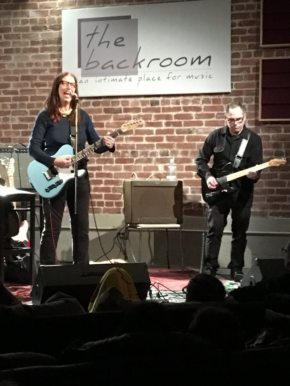 Syd Straw and John Moremen, duo show at The Back Room, Berkeley, April 2017.