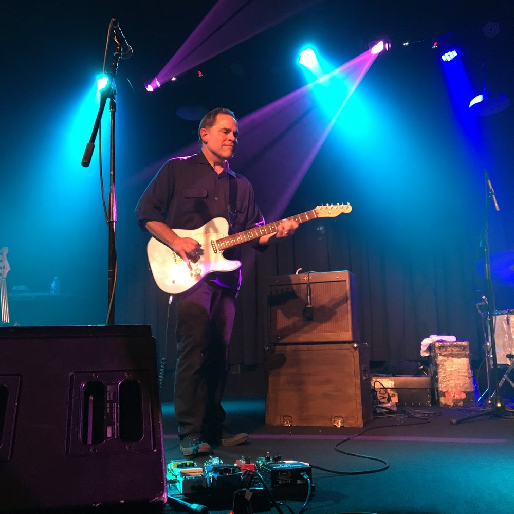 Onstage with the Matthew Sweet band at the Birchmere, Alexandria, VA, September 2016. Photo by Suzie Racho.