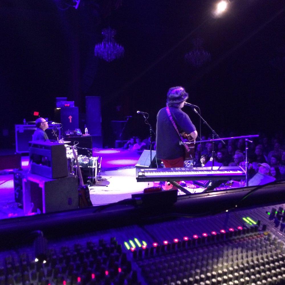 John Moremen and Scott McCaughey at The Fillmore, San Francisco, December 2013.