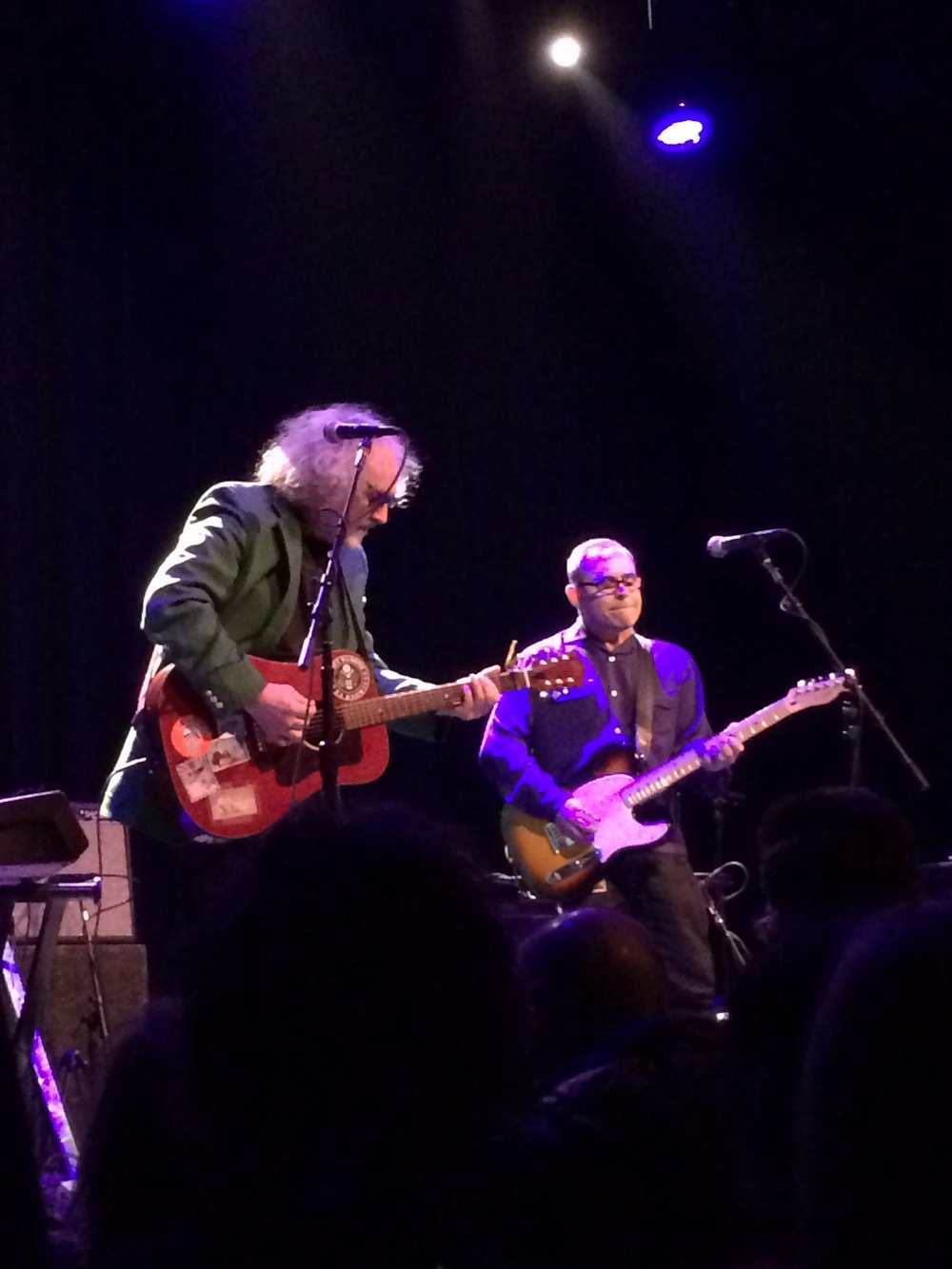 "John Moremen and Scott McCaughey perform ""Cemetary Row"" at The Fillmore, San Francisco, December 2013."