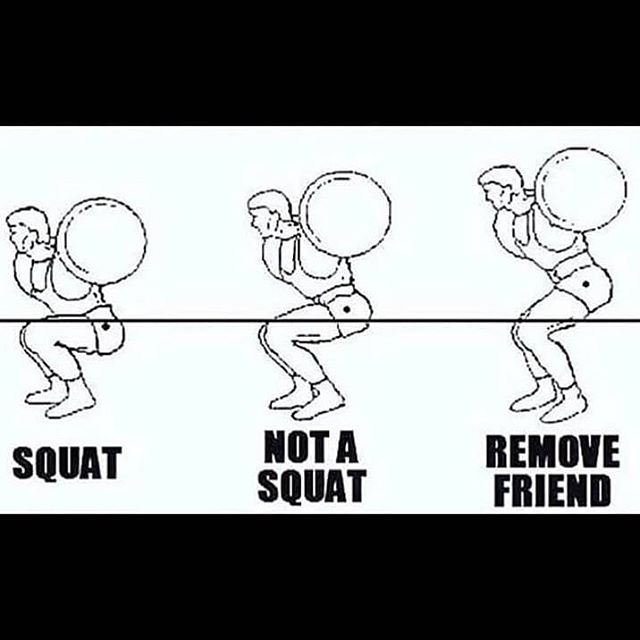 A friendly Monday reminder!!! Repost @gymhumourofficial  #squats #doitright #ownmondays