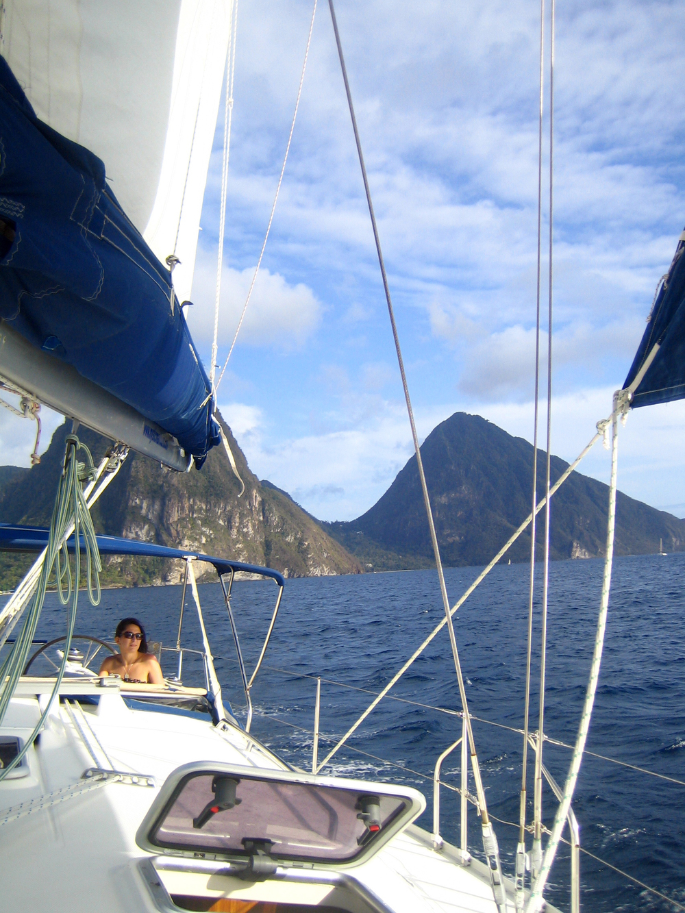 Pitons - St. Lucia, Lesser Antilles Islands, Carribean Sea  ( Her favorite   Destination   so far ...  She loves the crystal blue water and warm sun.)