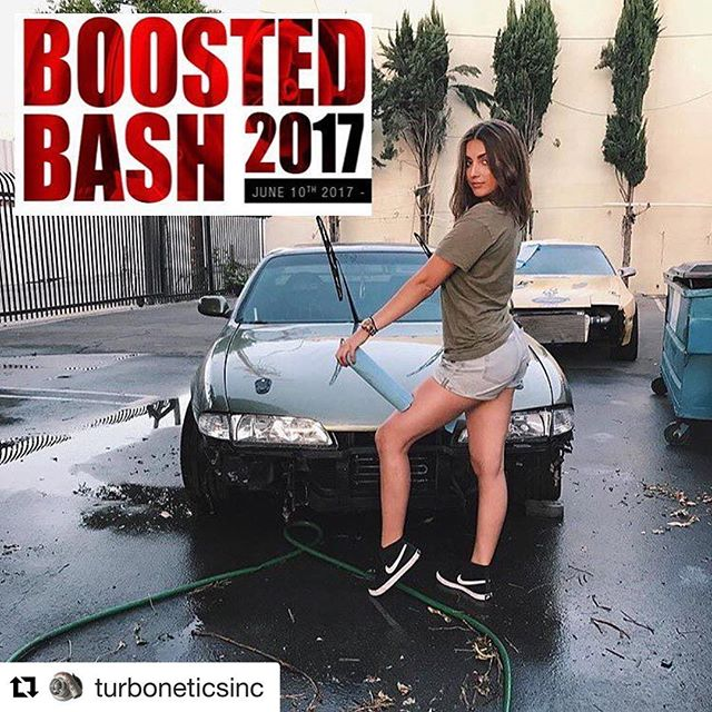 The words out- cashh me at @turboneticsinc Boosted Bash 2017 this Saturday 😈