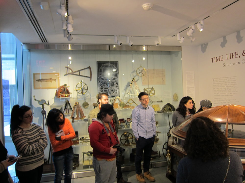 Optics Research Group on a trip to Harvard's Collection of Scientific Instruments with Dr. Sara Schechner