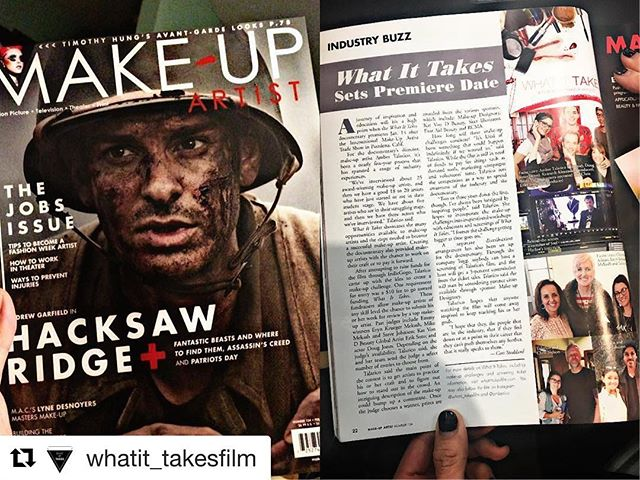 Have you gotten this month's issue of @makeupartistmag ?! Look who's on page 22!!!! What an honor to have been featured in Makeup Artist Magazine. Check out the article in issue #124 to read the interview with the director, Amber Talarico #makeup #documentary #film #womeninfilm #makeupartist #magazine #imats #premier