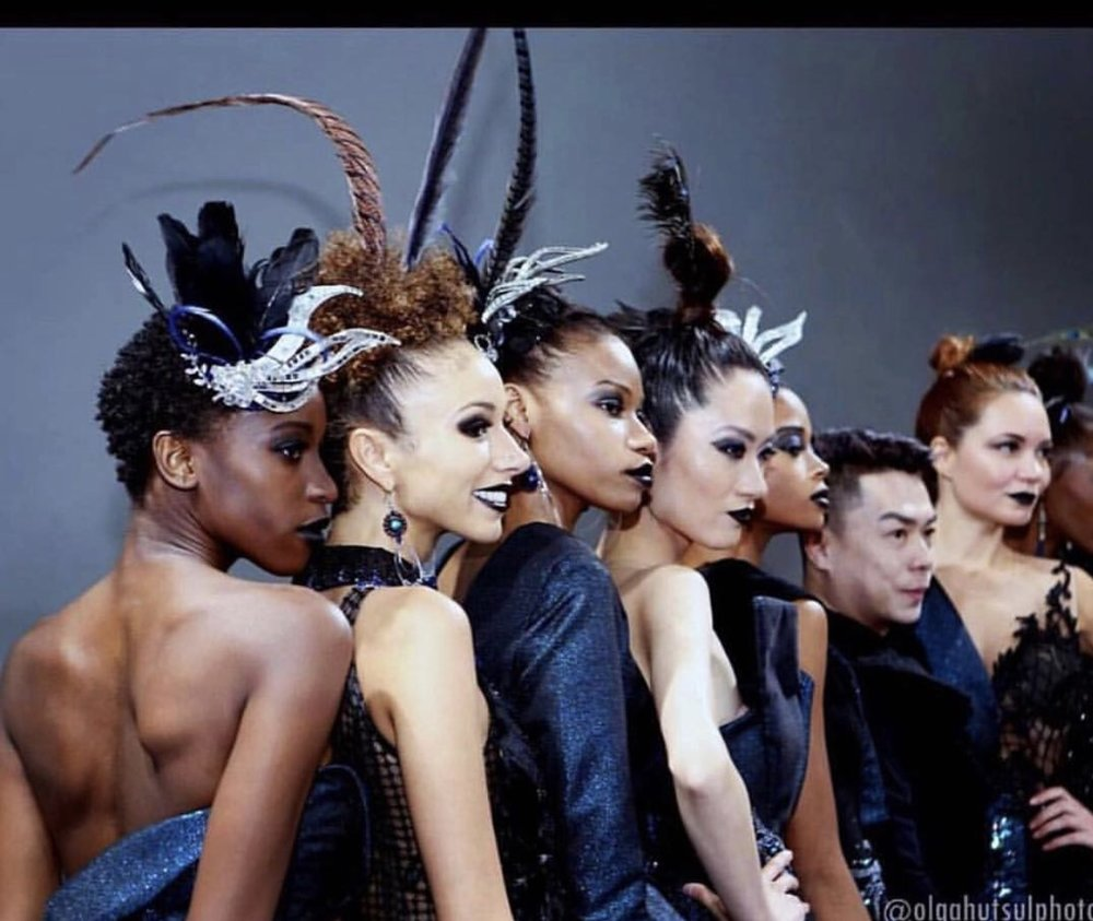 Key Makeup Artist. Geraldus Sugeng show at New York Couture Fashion Week.