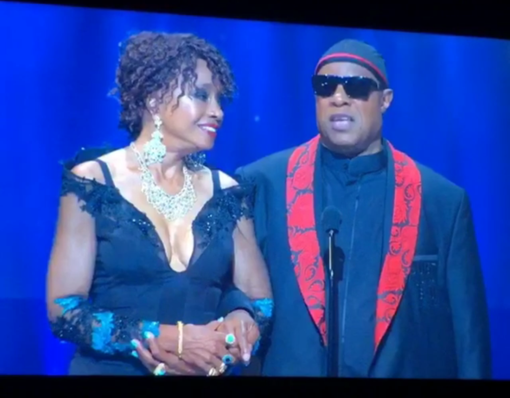 Beverly Todd and Stevie Wonder