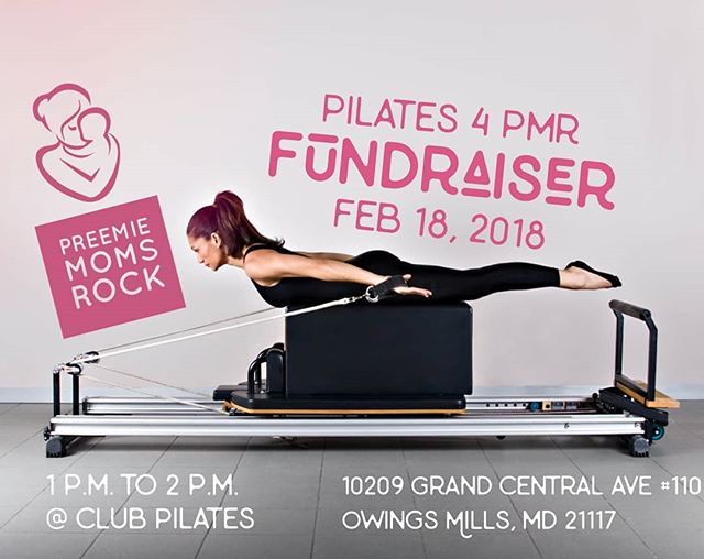 We are 2 days away from Fun & Fitness for Charity...THIS SUNDAY!!!! Spaces are LIMITED so please make sure you register. Space is limited. Treat your Valentine to a fit and fun event with #PreemieMomsRock. If you aren't able to make it we are also having another #Pilates4PMR in Hunt Valley on Feb.25th! If #Pilates doesn't fit your fancy but you would still like to support PMR, donations are appreciated too! Visit https://www.paypal.com/donate/?token=-wn8c6vvaNKyRDZUCJ1upKnVZCKf76BE1hExMQ-X7eKDFhzJH3_ebpJjRDwmNumYvrlUbm&country.x=US&locale.x=US  #PreemieMoms #PreemieMomsRock #FitAndFun #Mommies #MomLife #NICULIFE #PREEMIE