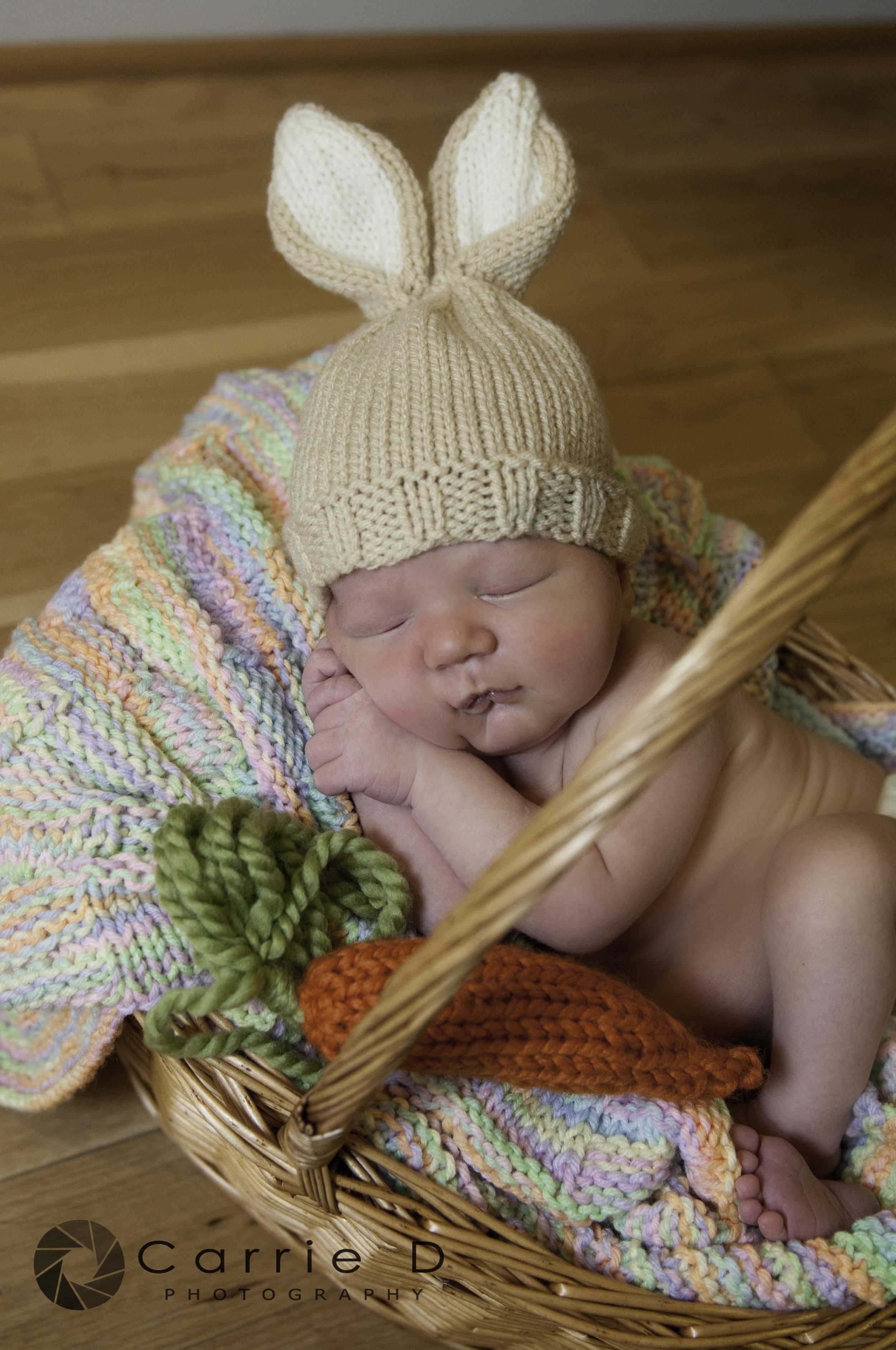 Baltimore Newborn Photographer - Natural Light Newborn Photography - Newborn Easter Photo - Natural Light Family Photography