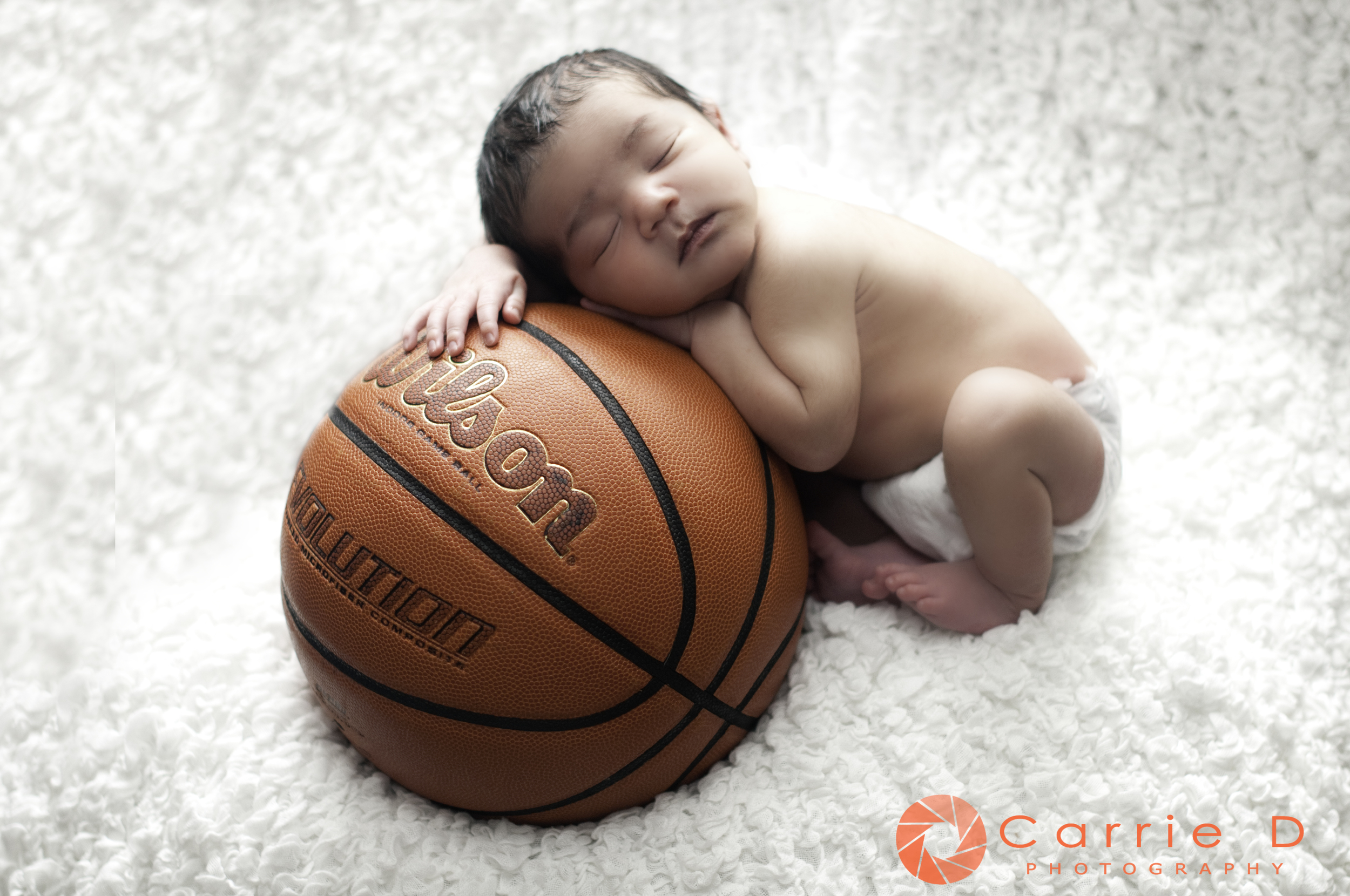 Alexandra Newborn Photographer - Alexandria Natural Light Photographer - Alexandria Natural Light Newborn Photographer - Natural Light Newborn Photographer - Newborn with Basketball - Newborn with bowtie