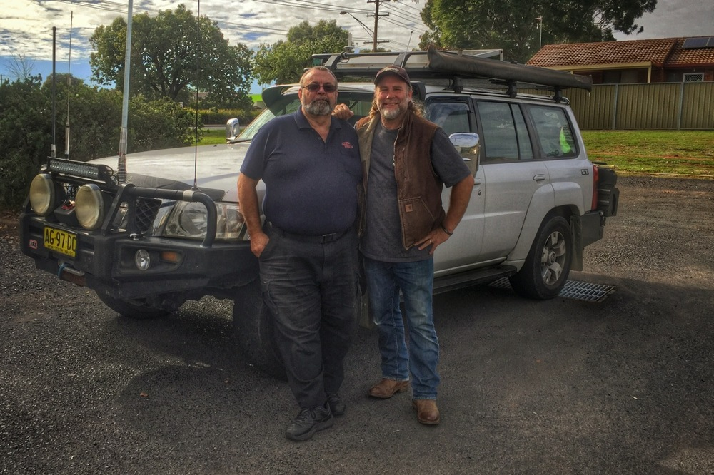 Pictured: Steve with Ray Herring and his beloved Nissan Patrol.