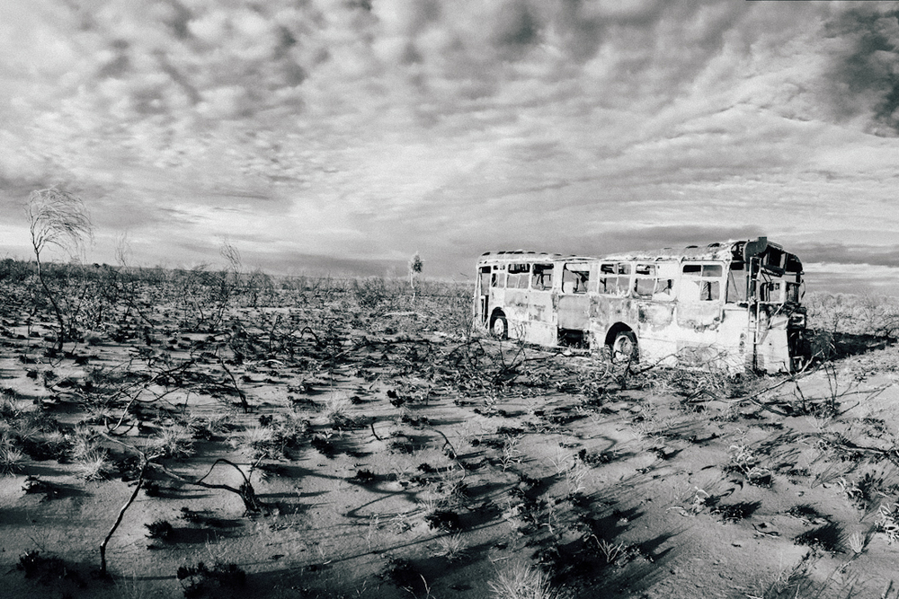 Pictured: An abandoned bus near the Pardoo Roadhouse in the Pilbara region of Western Australia.