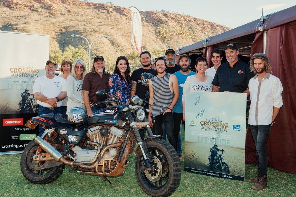 Steve and the Crossing Australia team in Alice Springs, NT.