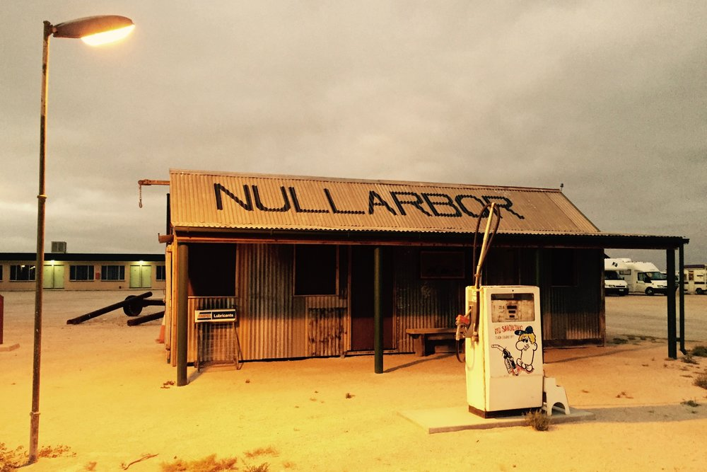 Pictured: The replica of the original Nullarbor Roadhouse on the Eyre Highway across Australia.
