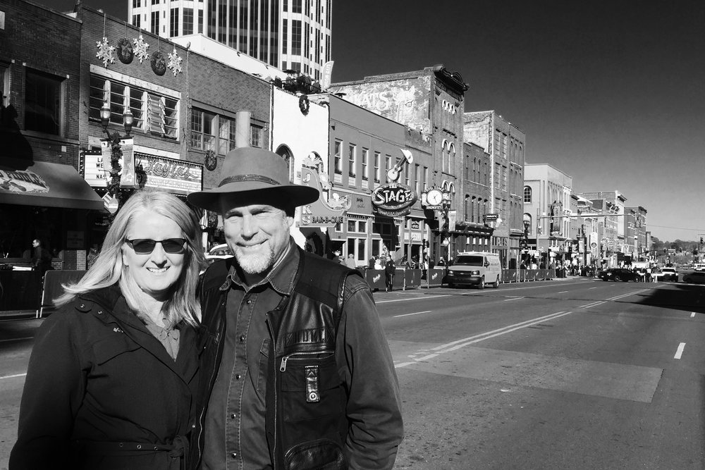 Pictured: Kerrie and Steve in Nashville's historic Music Row