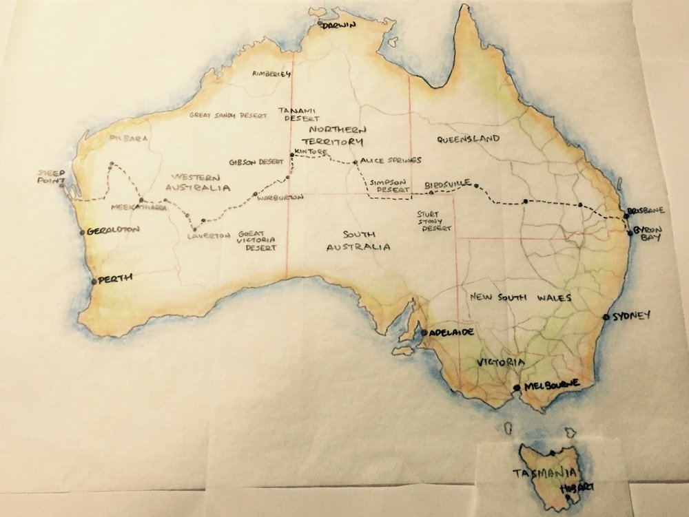 Pictured: The offload route for the 2016 Crossing Australia venture