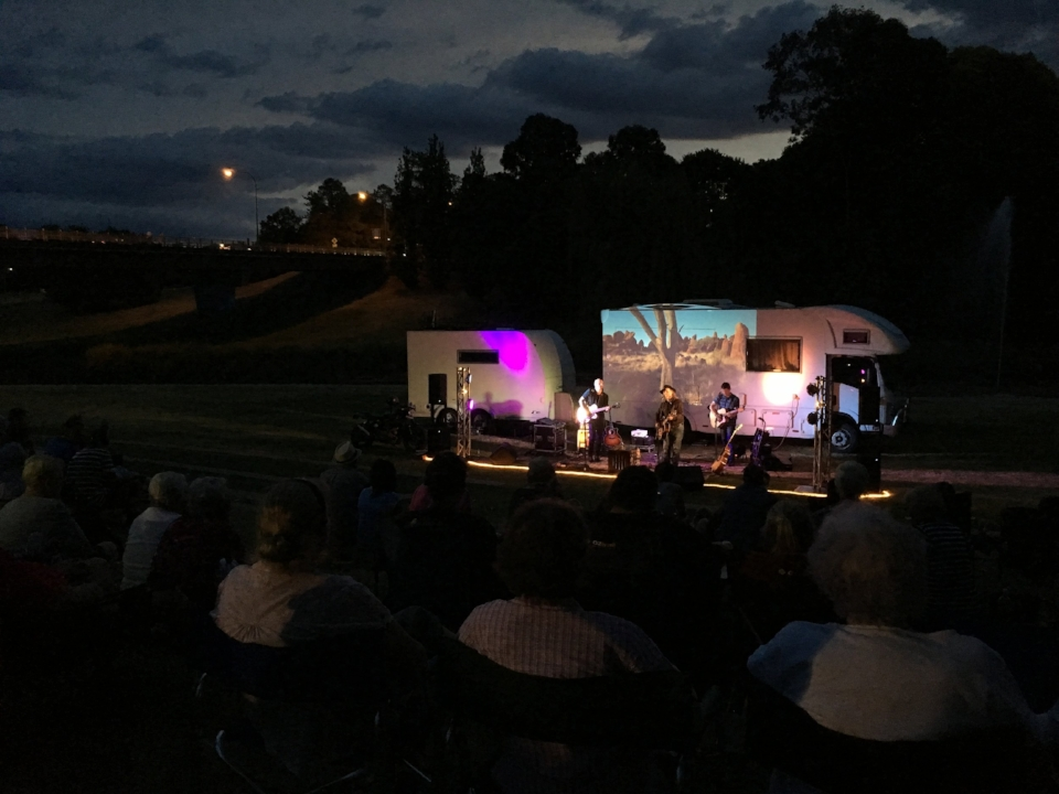 Outdoor concert in Inverell, NSW