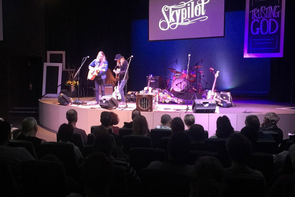 Pictured: Skypilot performing at Woodvale Baptist in Perth, WA.