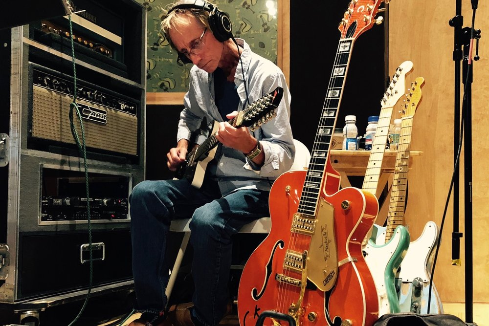 Pictured: The legendary Nashville session guitarist JT Corenflos at work on the new album.