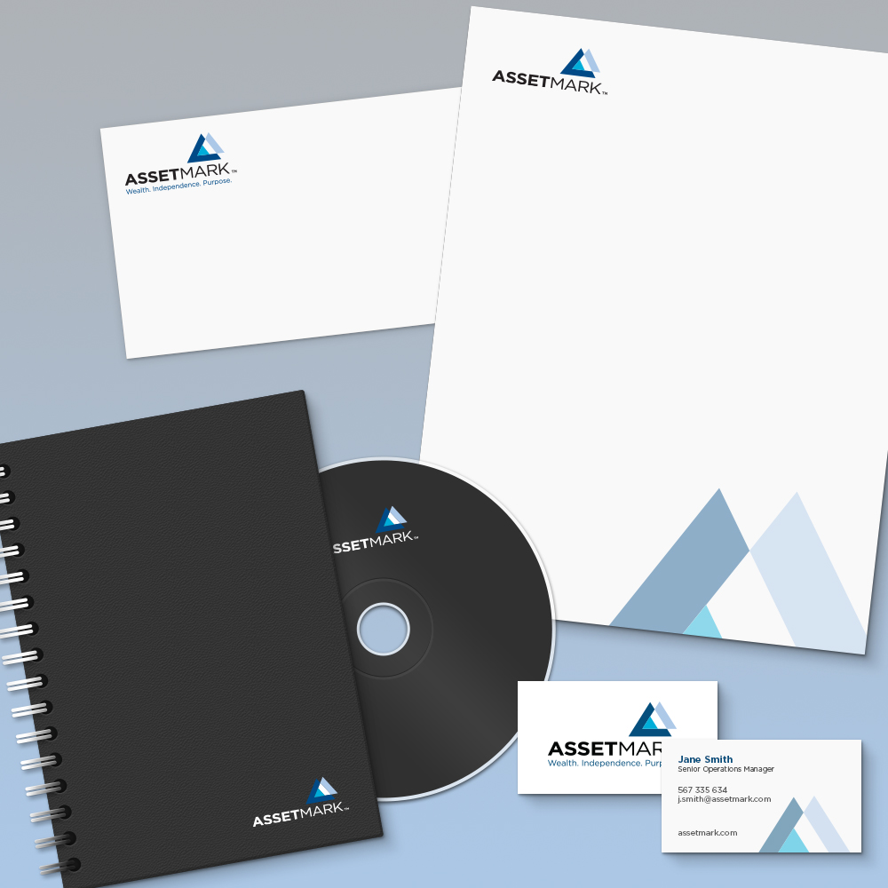 AssetMark Identity System:  Branding beyond the logo? Our work established new visual conventions to give AssetMark a cohesive brand identity