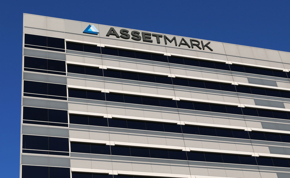 AssetMark Signage:    We designed backlit building signage for AssetMark's move to their new headquarters