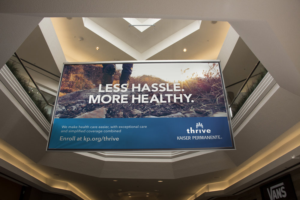Kaiser Permanente Retail Promo: Our award-winning in-mall campaign supported Kaiser Permanente's commitment to making it easier than ever for Coloradans to access high-quality health care
