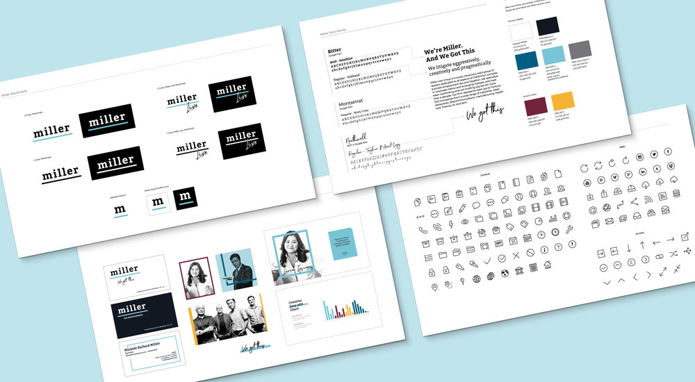 Miller Brand Development:  Brand positioning and tone of voice? No problem. Logo and tag line development? We got this. Print and digital design standards? Done and done. In just two months, we helped Miller define and launch their new brand.