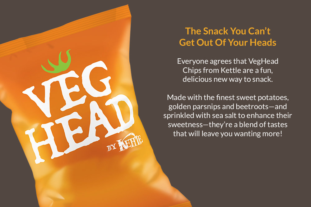 Kettle Chips Testing : Logo design for Kettle Chips vegetable chips played off the parent brand, while forging sub-brand distinction
