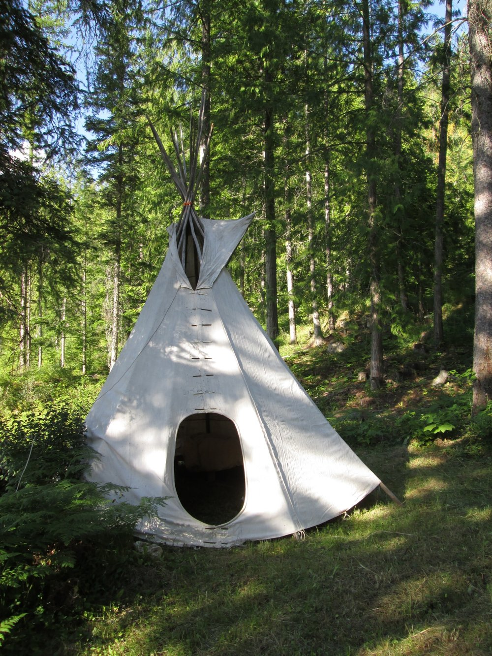 An authentic Tipi located on a private campsite with breathtaking views.