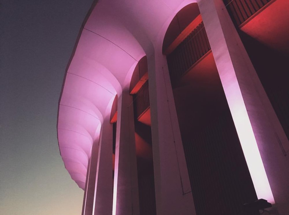 The Los Angeles Forum, where we shot our campaign spot this week. Photo by Matt O'Connor.