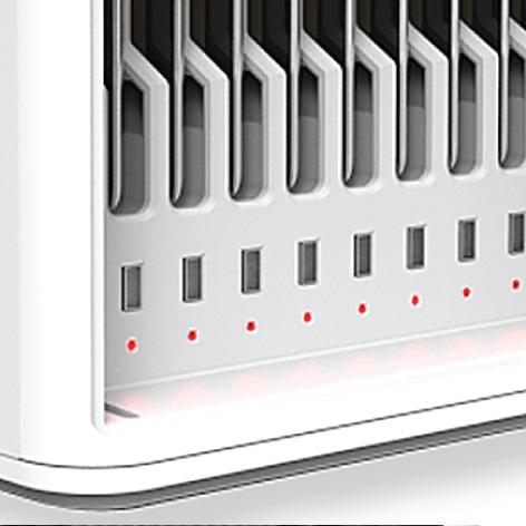 LED 充電狀態指示燈,獨立顯示不同狀態