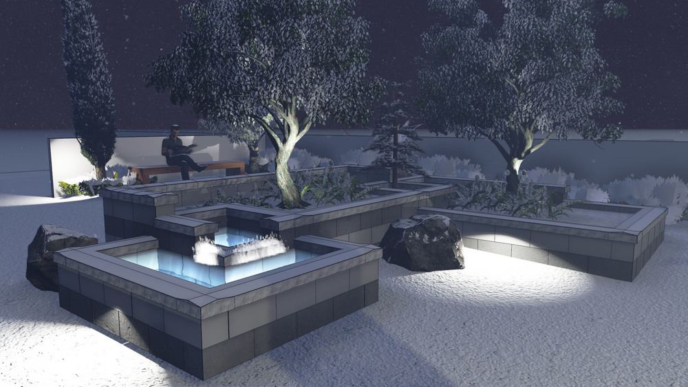 Exploration of fountain and lighting concepts