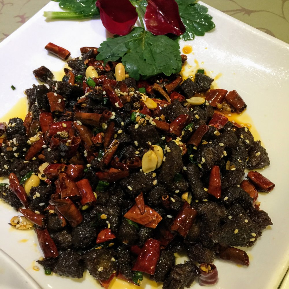 Dry fried chili beef