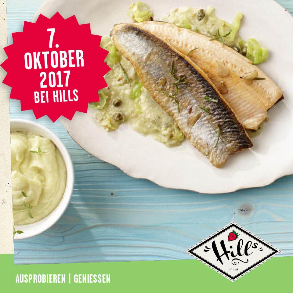 NICHT VERGESSEN! Am 7. Oktober ist Tag des Saiblings bei HILLs Früchte.  Euch erwartet eine leckerschmecker Verkostung! Von 11 bis 16 Uhr gibt es bei uns Saiblingsfilet mit Lauch-Nuss-Sauce zu probieren.  Lasst euch überraschen und unbedingt weitersagen.