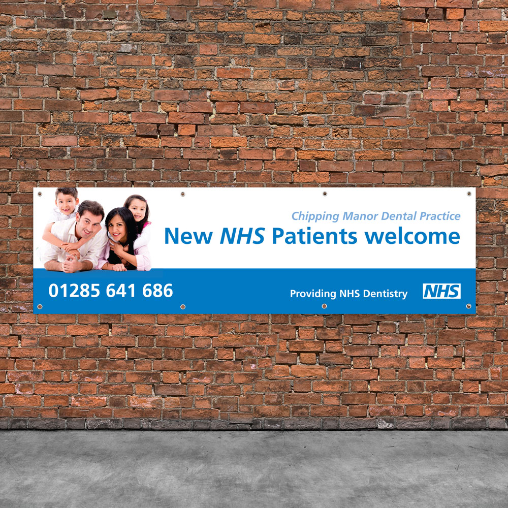 Dental outdoor banner