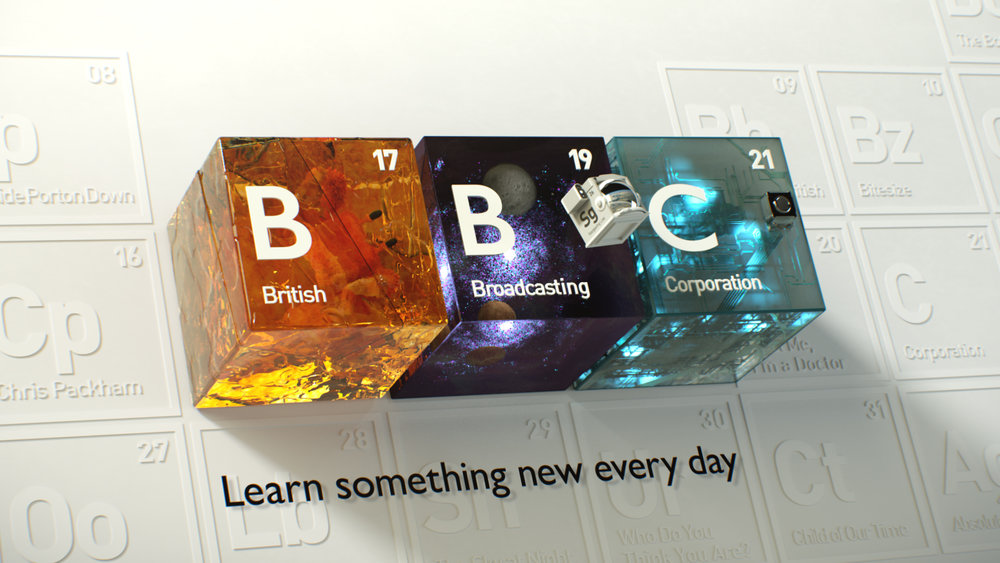 we used a combination of fully cg generated content footage and motion design elements to illustrate the learning content available across bbcs factual tv - Periodic Table Bbc