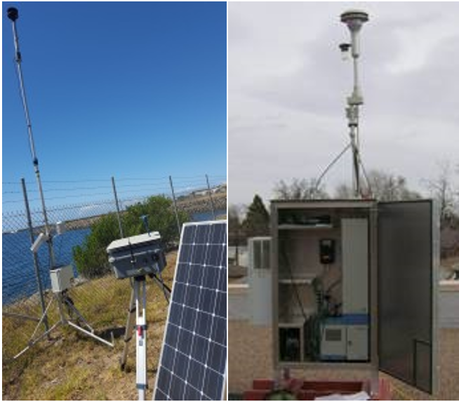 Dust monitoring using non-reference & reference methods plus a met station.