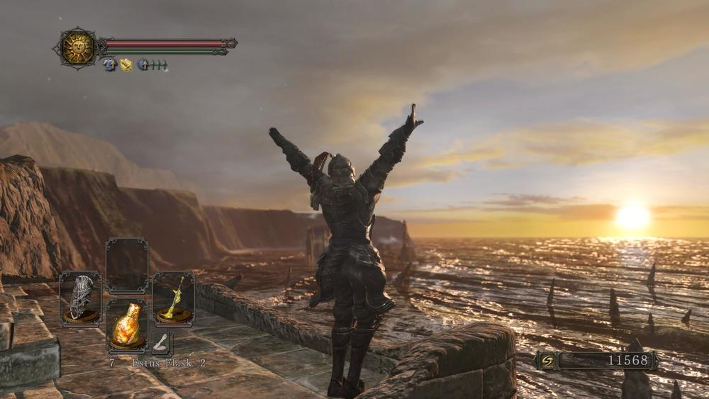 A Warrior of Sunlight praising the sun