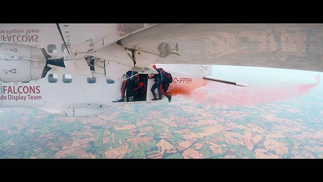 We're in the edit for the @raffalcons end of season documentary and we can't believe some of the incredible shots that will be in it shot with @gopro cameras attached to the plane. . . #goprohero #gopro5 #framegrab #parachute #uniqueperspective