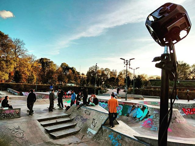 We're out capturing all new 360 Video footage in Brighton for a new Venture. . . #360 #360video #virtualreality #vr #filmlife🎬 #skatepark #filmmaking #musicvideo #waitandsee