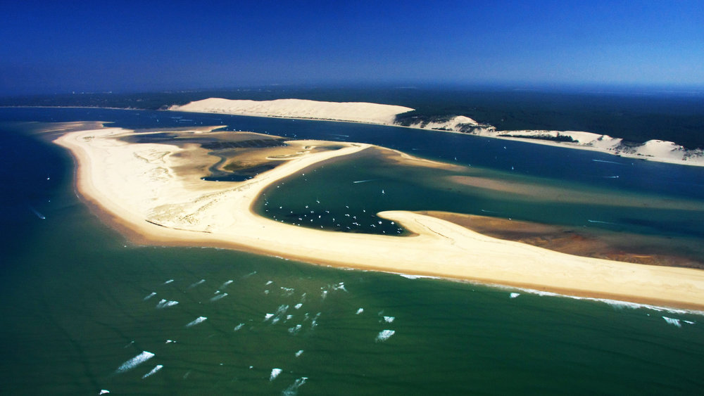 Banc d'Arguin nature reserve and the Pilat Dune (highest dune of Europe)