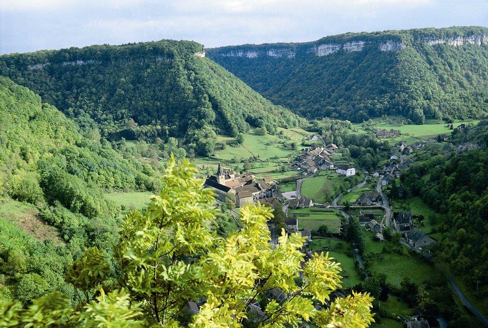 Notre camp de base dans un petit village du Jura