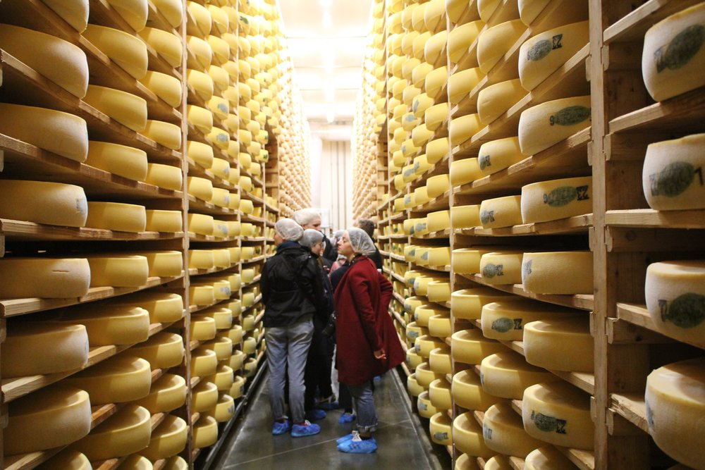 Visit of the local Comté cheese caves